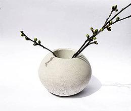 Dekorácie - betónová váza BASIC - 9429037_