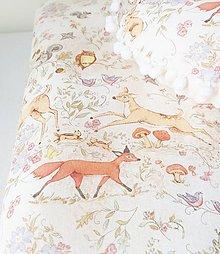 Textil - detská deka lesné zvieratká - 9429752_