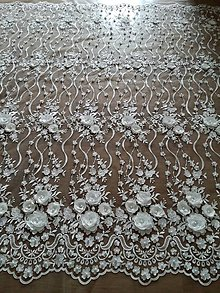 Textil - Exkluzívna svadobná krajka 3D - 9429761_