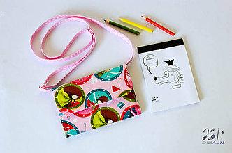 Detské tašky - Detská kabelka - pastelkovníčka Girls (vrátane vnútorného vybavenia) - 9431908_
