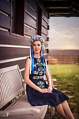 Šaty - Ľanové šaty Slavianka - 9431403_