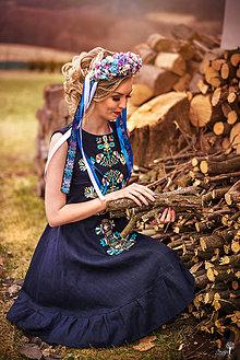 Šaty - Ľanové šaty Slavianka - 9431402_