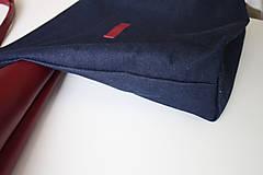 Veľké tašky - Kožená SHOPPER BAG- VÍNOVÁ - 9432340_
