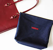 Veľké tašky - Kožená SHOPPER BAG- VÍNOVÁ - 9432341_