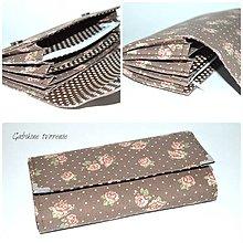 Peňaženky - Vintage peňaženka ružičky - 9432152_