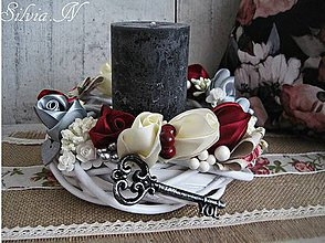 Svietidlá a sviečky - Dekoračná sviečka. - 9429081_