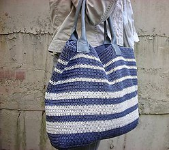Veľké tašky - Námornická taška - 9431691_