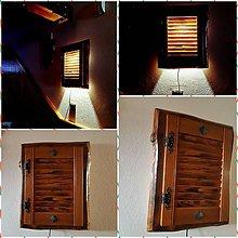 Svietidlá a sviečky - Nástenná lampa okenica - 9432324_