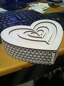 Krabičky - Krabička Srdce - 9430777_