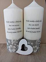Svietidlá a sviečky - Sviečka- poďakovanie rodičom - 9432544_