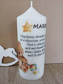 Svietidlá a sviečky - Sviečka -narodenie dieťaťa, krst - 9432553_