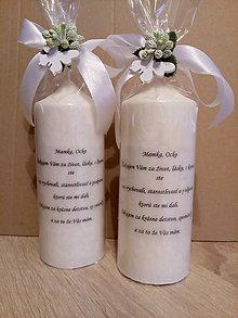 Svietidlá a sviečky - Sviečka- poďakovanie rodičom - 9432558_