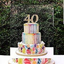 Dekorácie - Zapich na tortu 40 ❤ - 9432239_