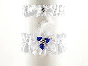 Bielizeň/Plavky - set bielý podväzok saténový s čipkou pre nevestu 02S (Bordová) - 9432576_