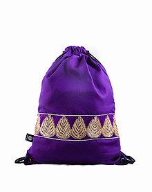 Batohy - Fialový batoh/ruksak s trblietavou stuhou VINITHA 19 - 9432686_
