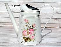 Nádoby - Krhlička vintage ružičky - 9430575_