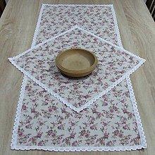 Úžitkový textil - Anglické ružičky - obrus obdĺžnik 95x40 - 9428938_