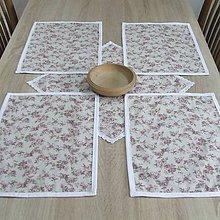 Úžitkový textil - Anglické ružičky - prestieranie 40x30 - 9428943_