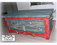 "Nábytok - Mega truhlica ""Navy style"" :) - 9429208_"
