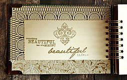 Papiernictvo - Svadobná kniha hostí v Gatsby štýle - 9432249_