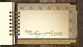 Papiernictvo - Svadobná kniha hostí v Gatsby štýle - 9432254_