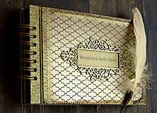 Papiernictvo - Svadobná kniha hostí v Gatsby štýle - 9432257_
