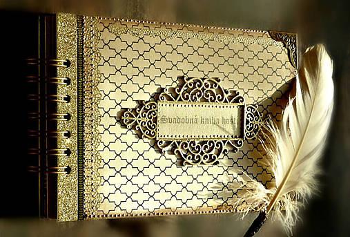 Svadobná kniha hostí v Gatsby štýle