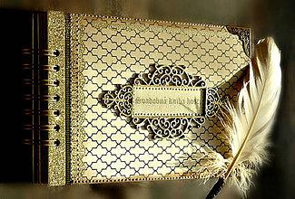 Papiernictvo - Svadobná kniha hostí v Gatsby štýle - 9432250_