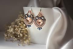 Náušnice - Loarre - šujtášové náušnice/soutache earrings - 9430594_
