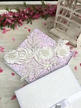 Bielizeň/Plavky - Luxusný svadobný podväzok ivory - 9429616_