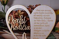 Darčeky pre svadobčanov - Poďakovanie Rodičom srdce vyrezávané 18 - 9429173_