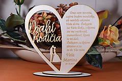 Darčeky pre svadobčanov - Poďakovanie Rodičom srdce vyrezávané 18 - 9429175_