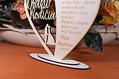 Darčeky pre svadobčanov - Poďakovanie Rodičom srdce vyrezávané 18 - 9429177_