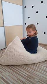 Nábytok - Pletený sedací vak - 9431771_