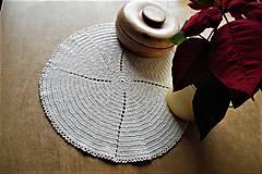 Úžitkový textil - Háčkovaná okrúhla dečka - 9429198_