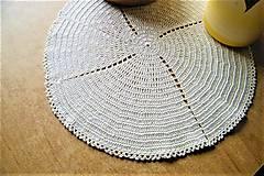 Úžitkový textil - Háčkovaná okrúhla dečka - 9429224_