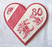 Dekorácie - Medovníkové srdce Sedemdesiatnika - 9433683_