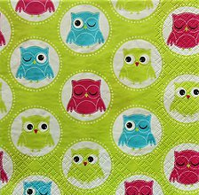 Papier - S1183 - Servítky - sova, sovičky, zvieratko, owl - 9434419_
