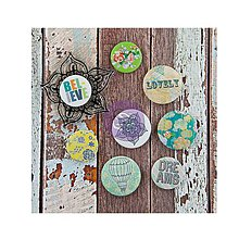 Pomôcky/Nástroje - Free Spirit Kvetinové razítko + 8 samolepiacich (ne)odznakov - 9434225_