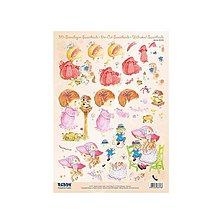 Papier - 3D predvystrihnuté výrezy A4 Sweetheads - Dievčatká č.5 - 9434347_
