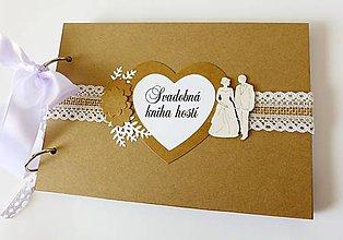 Papiernictvo - svadobná kniha hostí - 9432859_