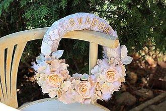 Dekorácie - Svadobný venček - 9433891_