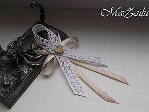Pierka - Vintage svadobné pierko veľké - 9435278_