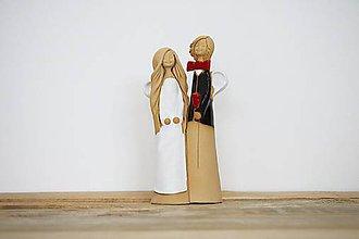 Dekorácie - Anjel pár svadobný - 9434530_