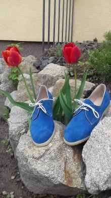 Obuv - Hand made dámské topánky z semiš kože - 9436013_