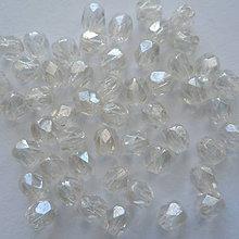 Korálky - Skl.brúsené 4mm-1ks (0-crystal luster) - 9433866_