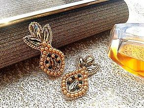 Náušnice - Elegant tropical gold - 9434961_
