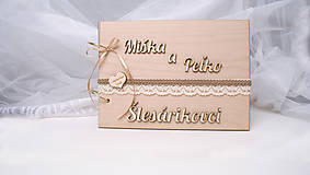 - Svadobná kniha hostí drevená - 9434992_