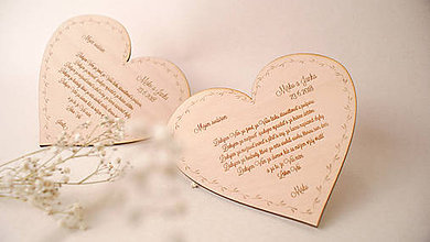 Dekorácie - Drevené poďakovanie rodičom srdce - 9435037_
