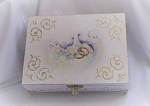 Krabičky - Svadobná krabička - 9436024_
